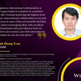 Dr. Tran Dinh Phong, nominated for ASPIRE Prize 2017